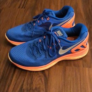 Nike LunarEclipse4 blue and orange size 9.5